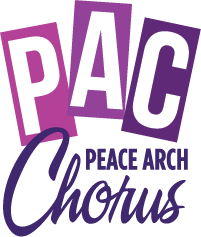 Peace Arch Chorus logo design by Goodwin Studios Squamish BC