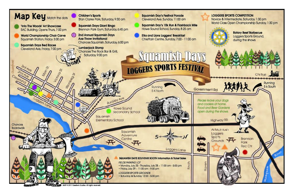 Squamish Loggers Sports Festival Map - Goodwin Studios
